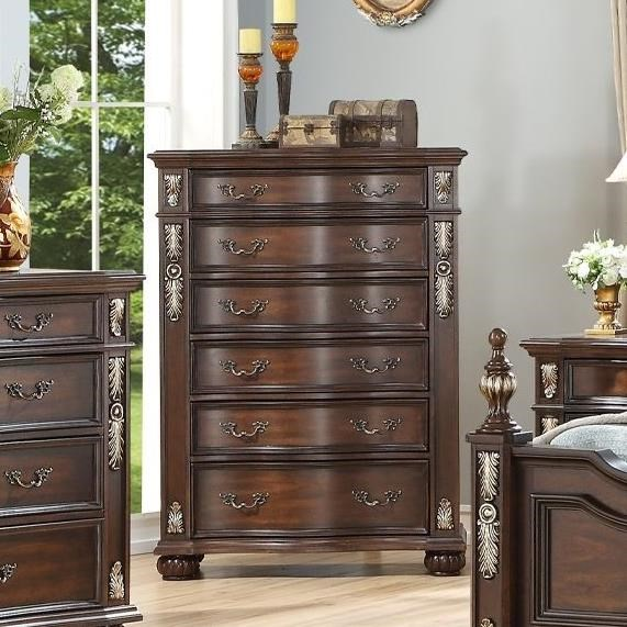 Maximus 6-Drawer Chest by New Classic at Beck's Furniture