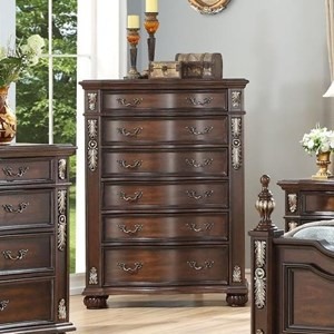 6-Drawer Chest with Felt-Lined Drawer