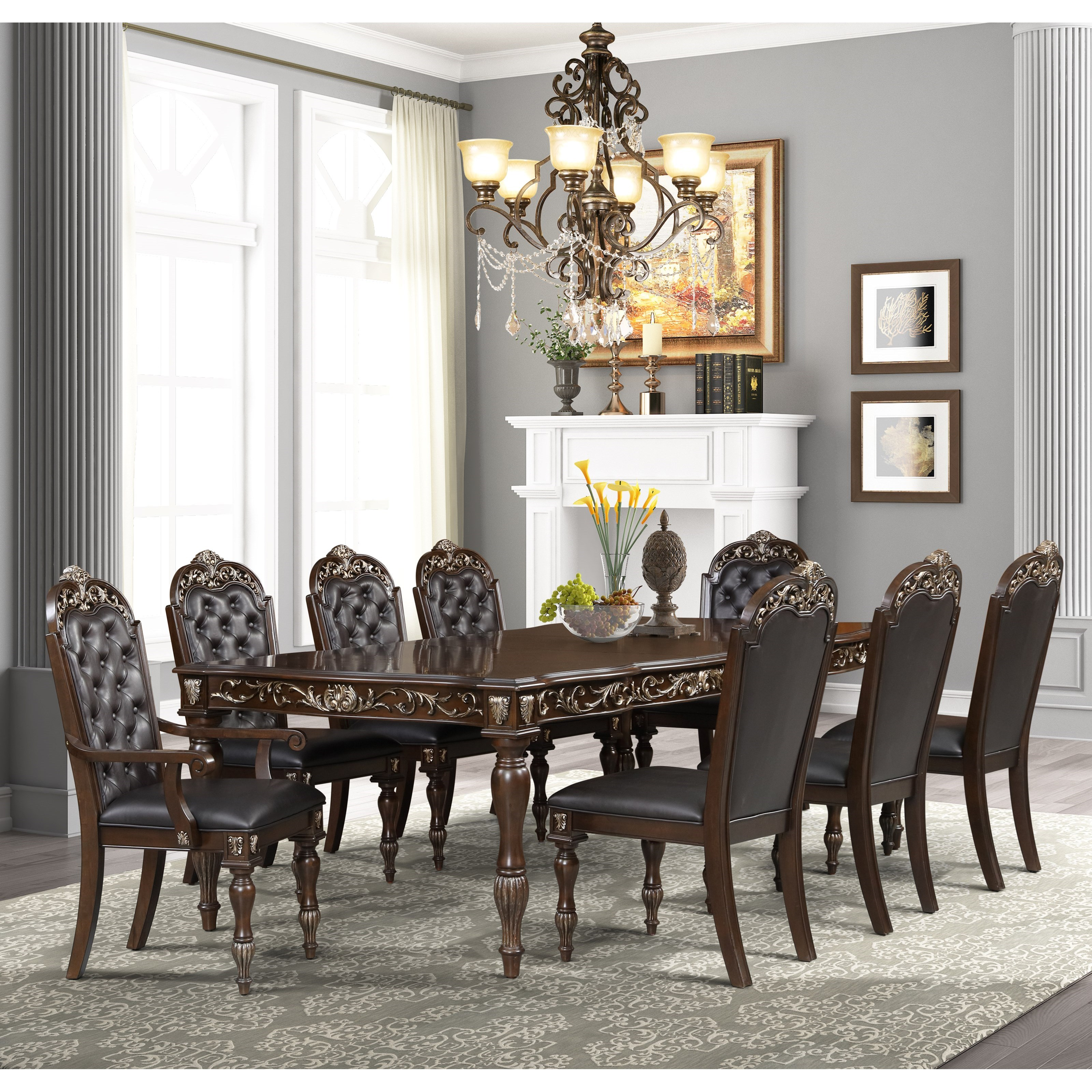 Maximus 9-Piece Table and Chair Set by New Classic at Furniture Superstore - Rochester, MN