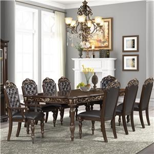 Formal Dining Table with 4 Side and 2 Arm Chairs