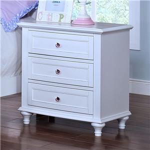 Casual 3 Drawer Nightstand