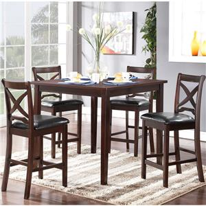 Counter Height Table and Chair Set with Tapered Legs
