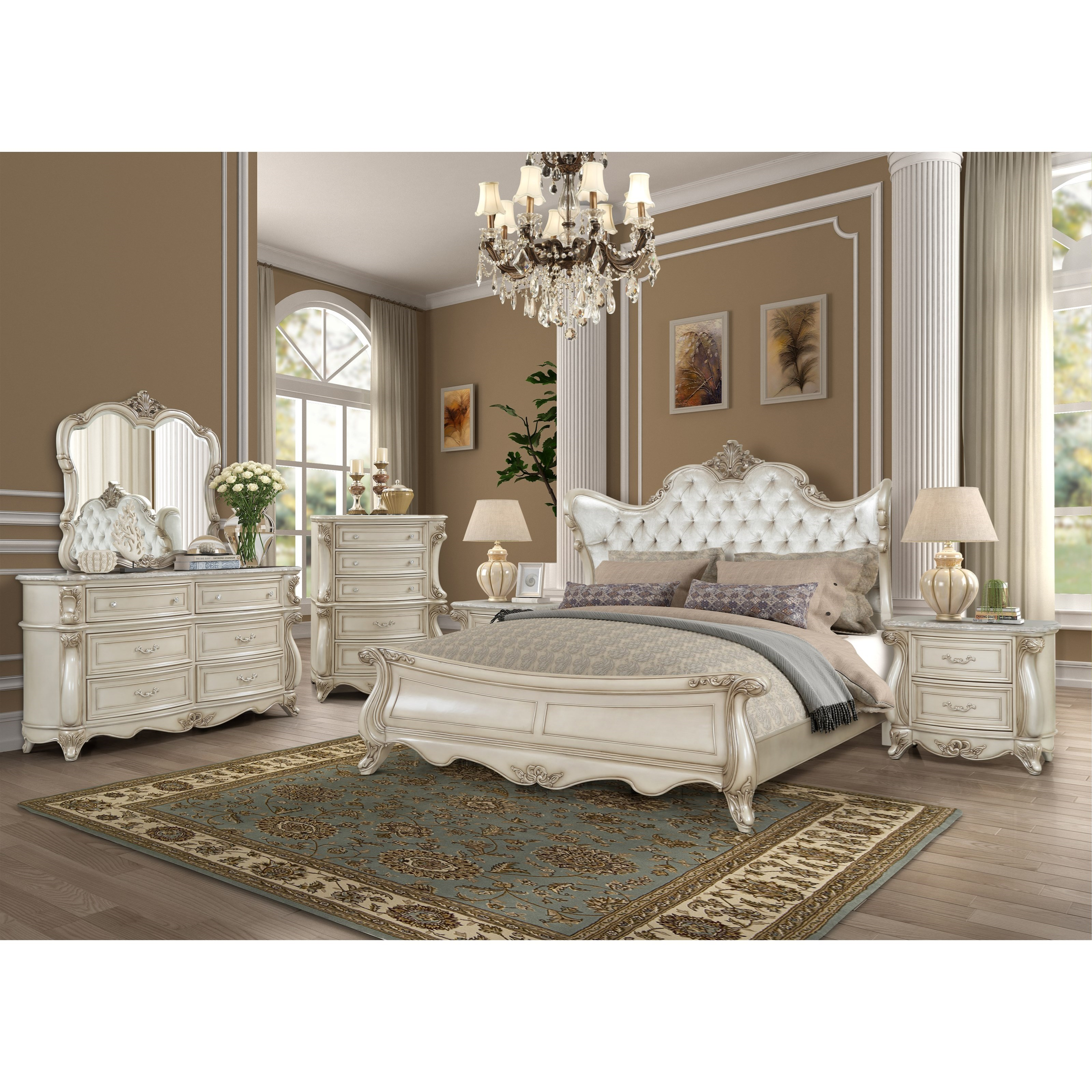 Monique King Bedroom Group by New Classic at Rife's Home Furniture