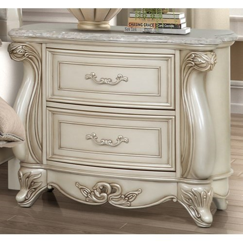 Monique Nightstand by New Classic at A1 Furniture & Mattress