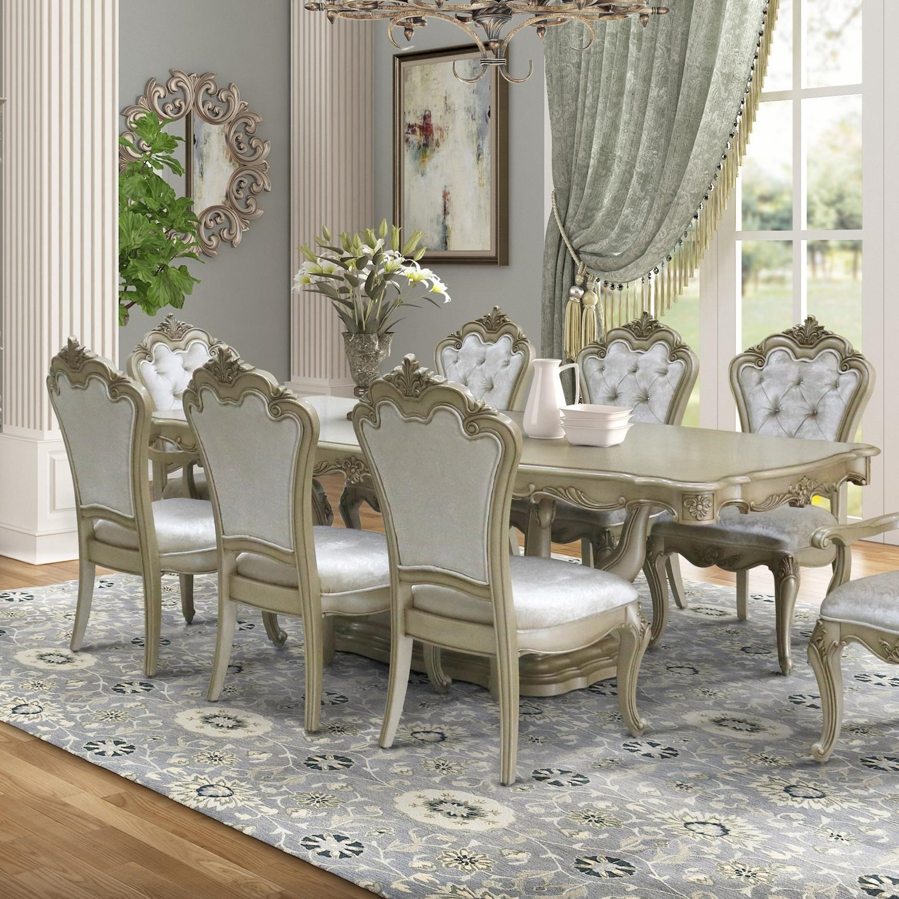 Monique Dining Table  by New Classic at A1 Furniture & Mattress