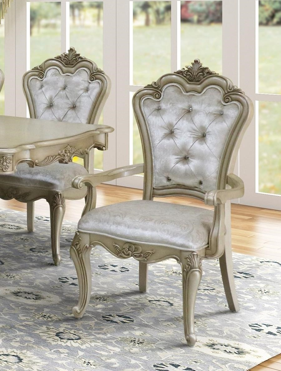 Monique Dining Arm Chair by New Classic Furniture at Del Sol Furniture