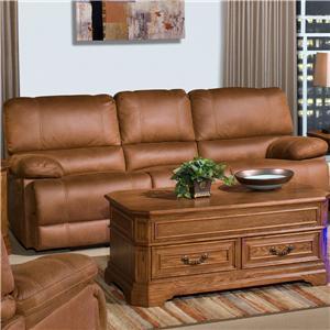 Casual Dual Reclining Sofa with Pillow Top Arms