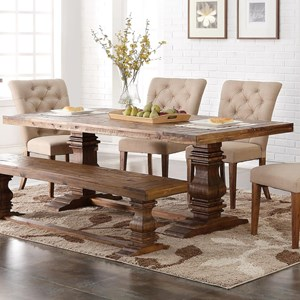 Dining Table with Double Pedestal Base