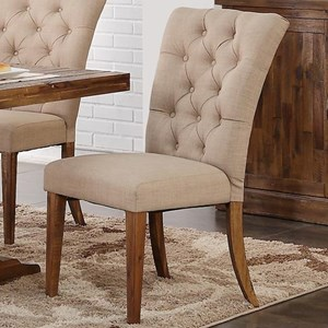 Dining Side Chair with Tufted Upholstered Back