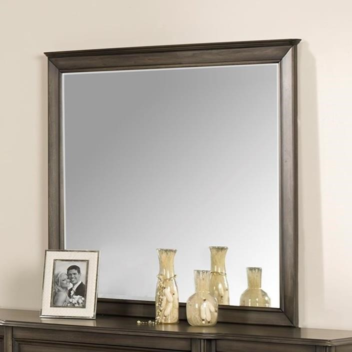 Richfield Smoke Dresser Mirror by New Classic at Rife's Home Furniture