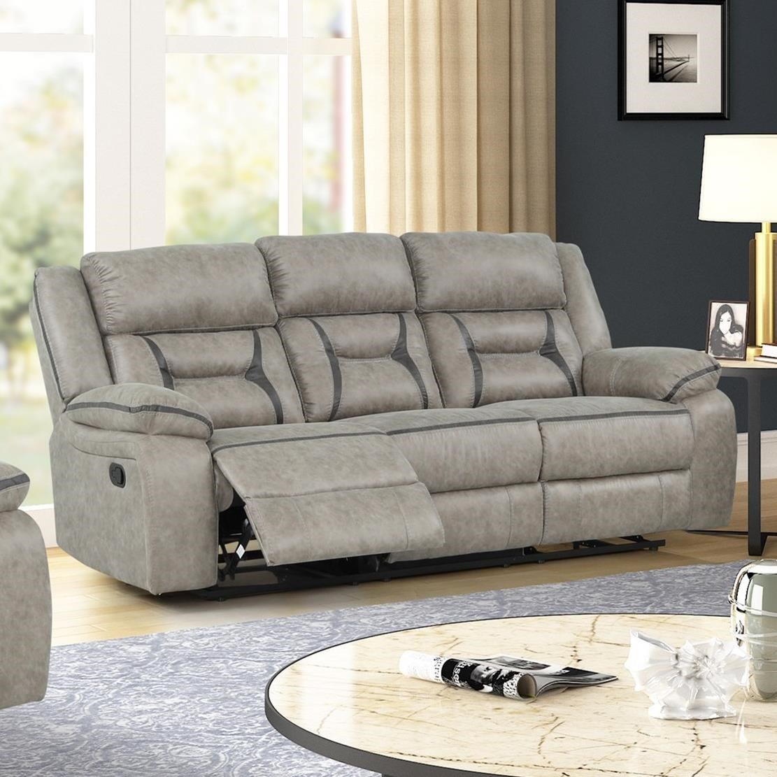Roswell Reclining Sofa by New Classic at Wilcox Furniture