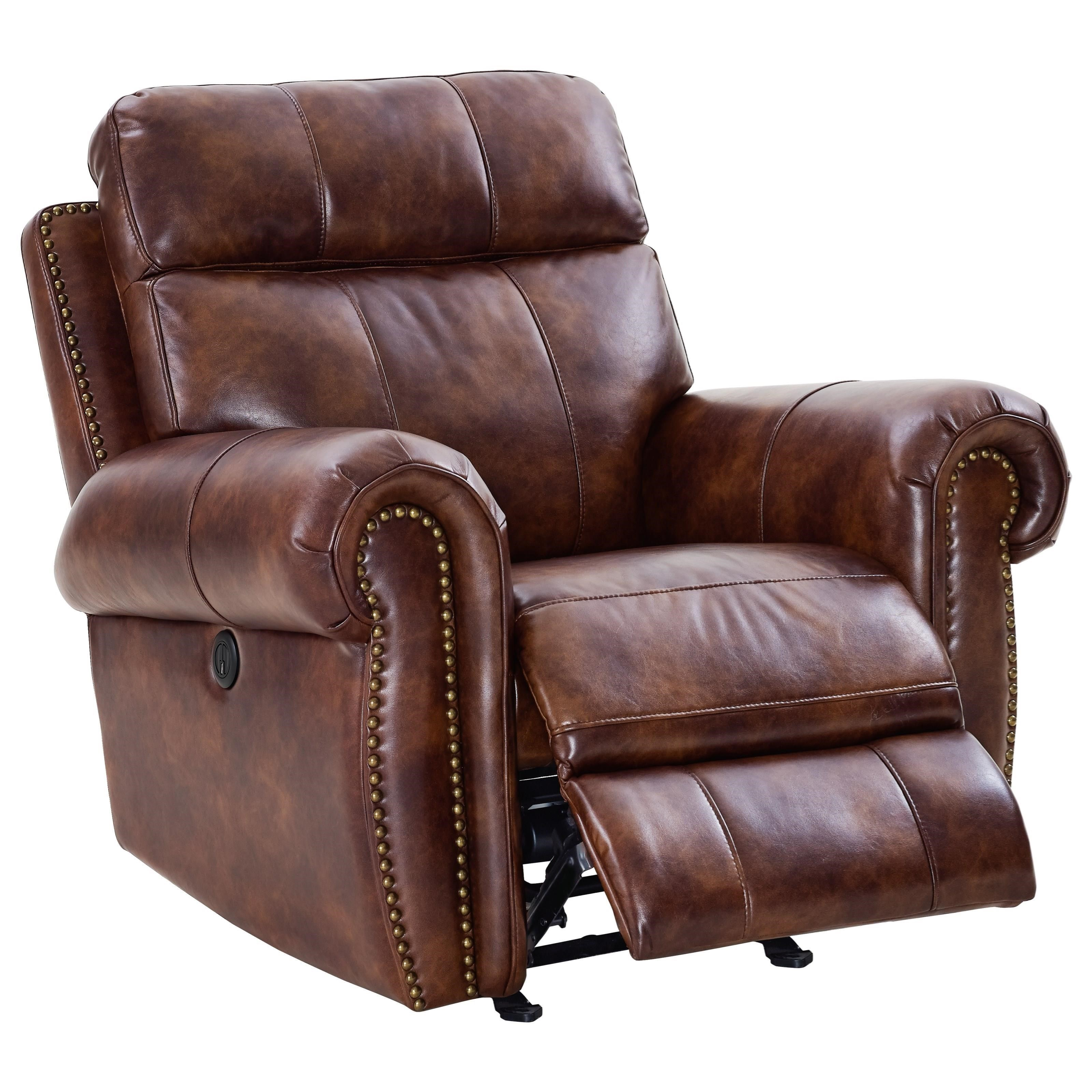 Roycroft Glider Recliner by New Classic at H.L. Stephens