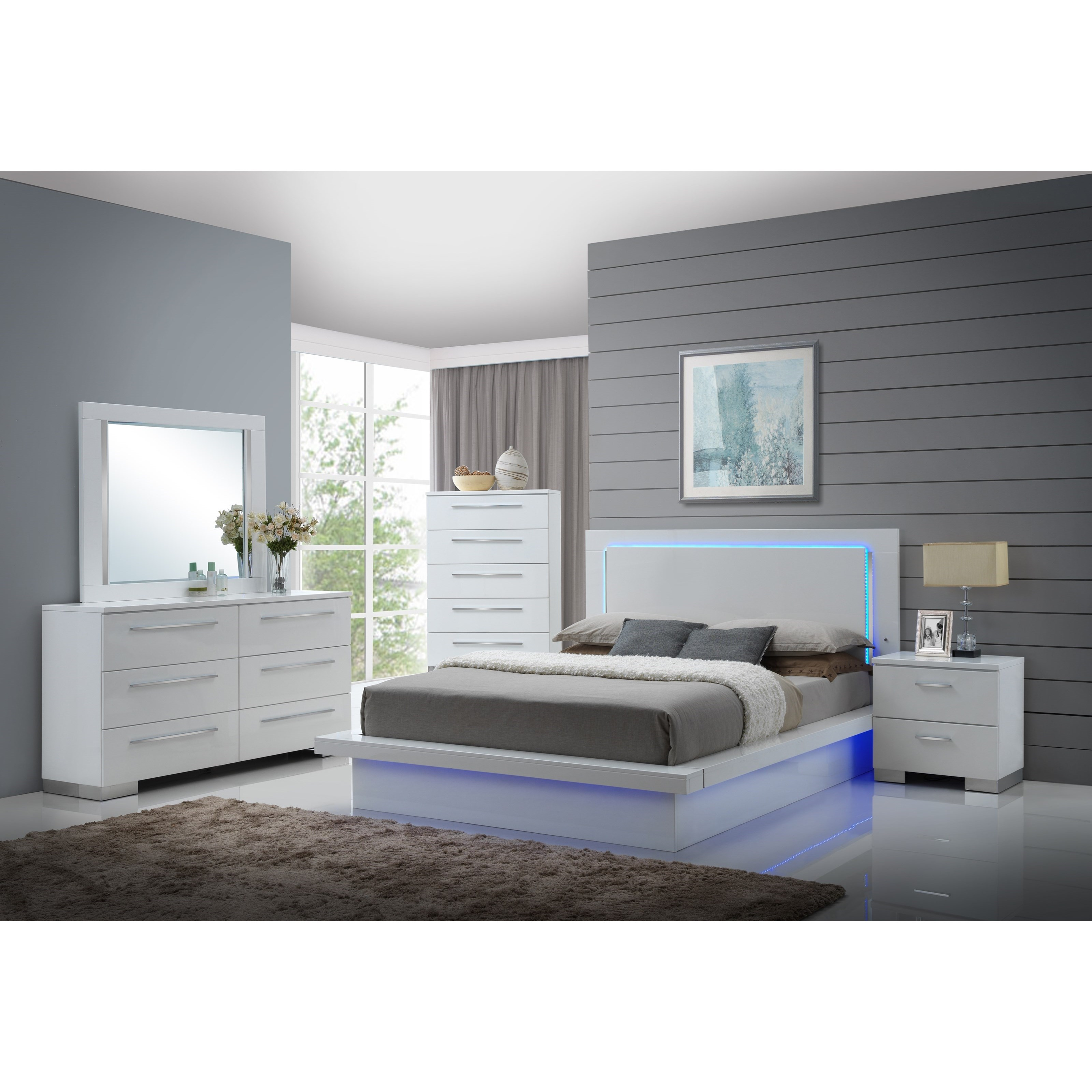 Sapphire Queen Bedroom Group by New Classic at Beds N Stuff