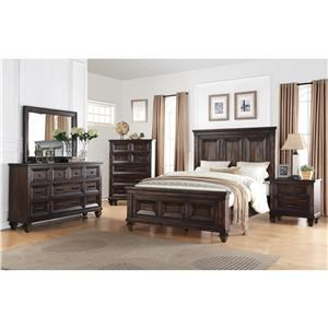 King Bed, Dresser, Mirror & Nightstand