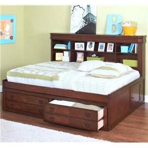 Full Youth Storage Lounge Bed