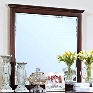 Dresser Mirror with Moulded Top Edge