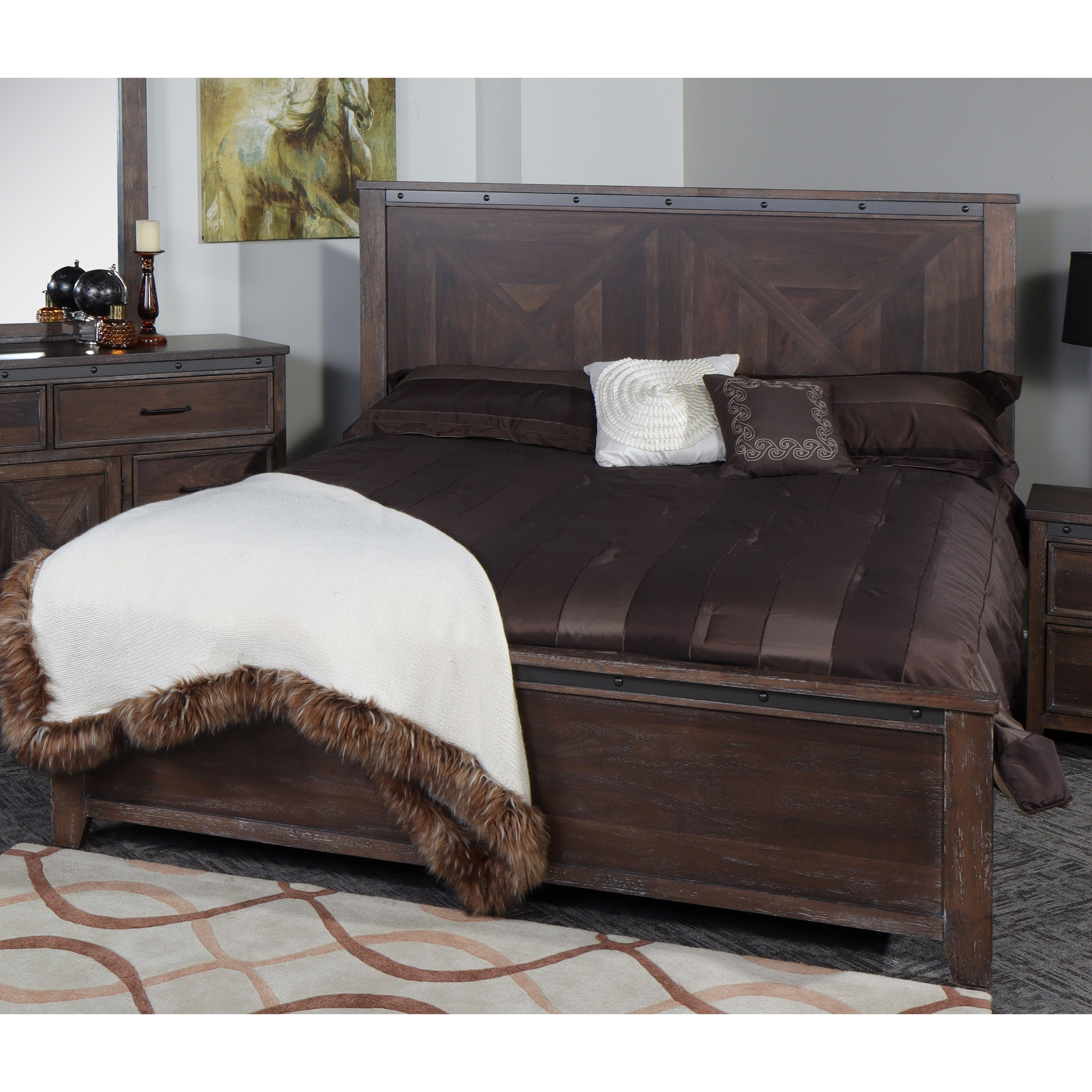 Stonehurst California King Panel Bed by New Classic at A1 Furniture & Mattress
