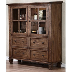 China Cabinet with Removable Wine Rack