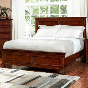 King Panel Headboard and Footboard Bed