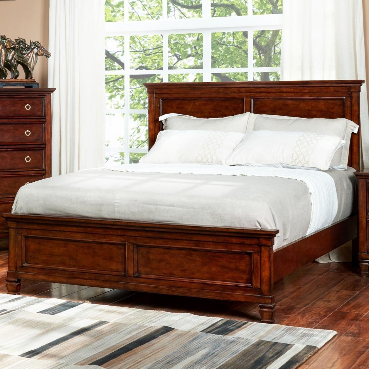 Tamarack California King Panel Bed by New Classic at Beds N Stuff