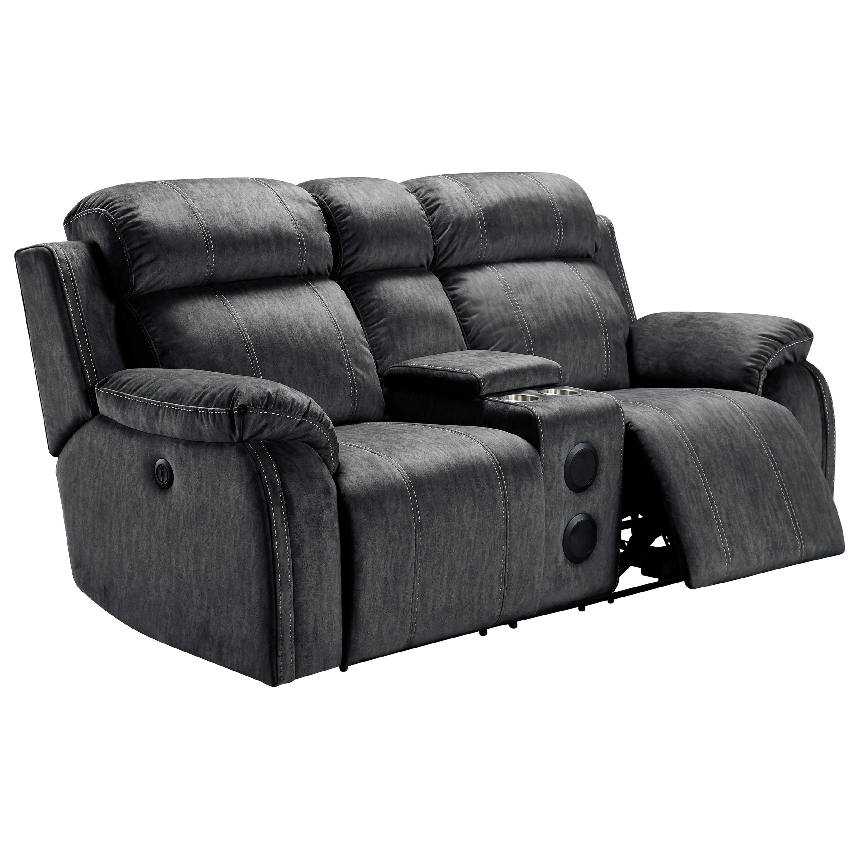 Tango Power Reclining Console Loveseat by New Classic at Rife's Home Furniture