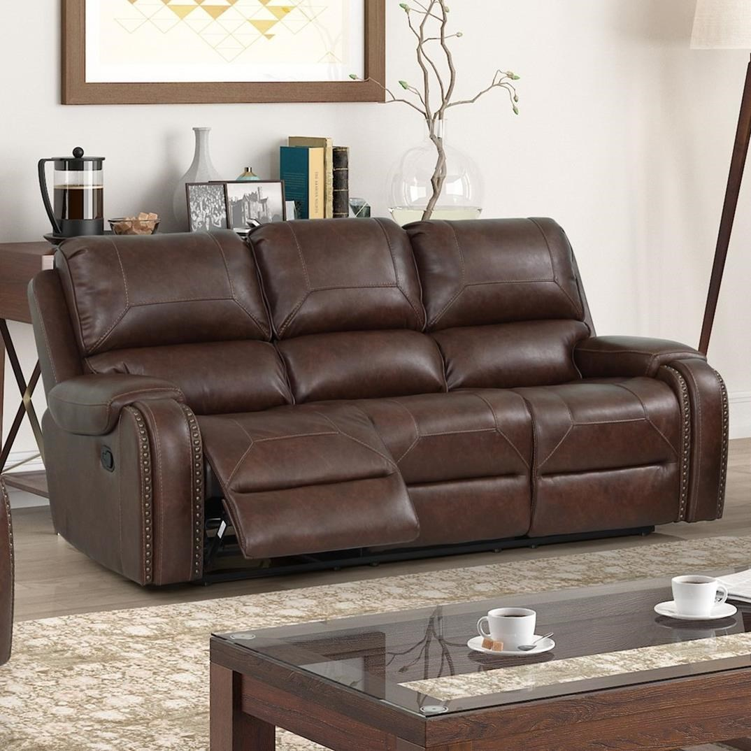 Taos Reclining Sofa by New Classic at Beck's Furniture