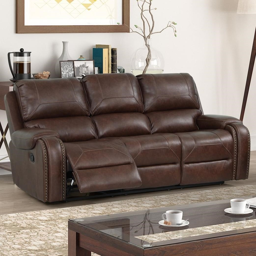 Taos Power Dual Reclining Sofa by New Classic at Beck's Furniture