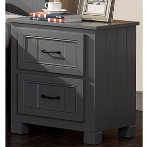 Casual 2 Drawer Nightstand