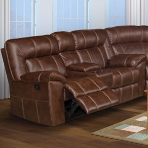 Casual Reclining Loveseat with Storage Drawer