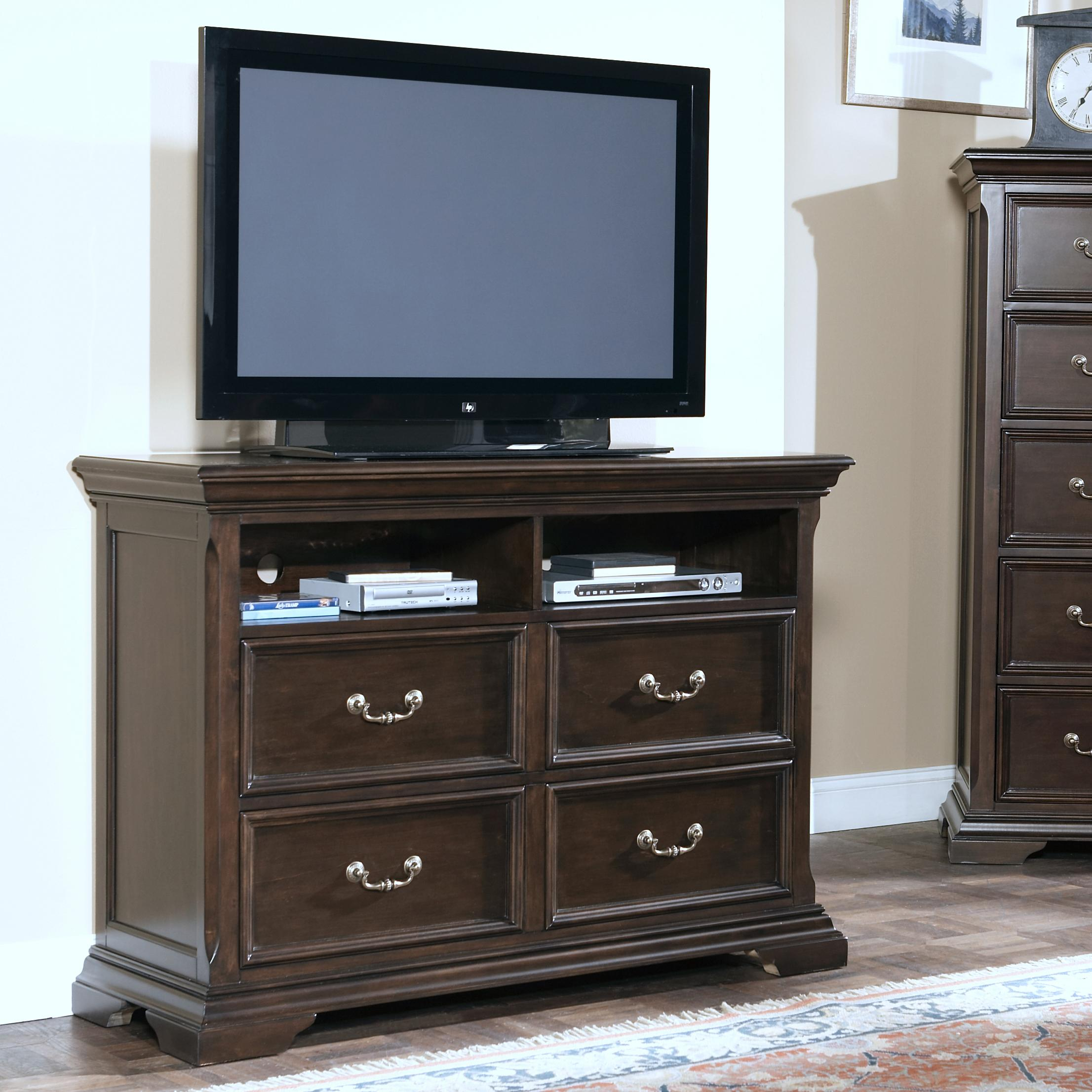 Timber City Four Drawer Media Chest at Lapeer Furniture & Mattress Center