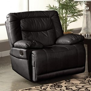 Casual Power Motion Glider Recliner with Pillow Top Arms