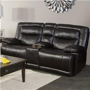 Casual Power Motion Console Loveseat with Pillow Top Arms