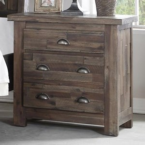 Two Drawer Nightstand with Finger Pull Hardware