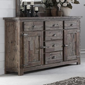Six Drawer Dresser with Panel Doors