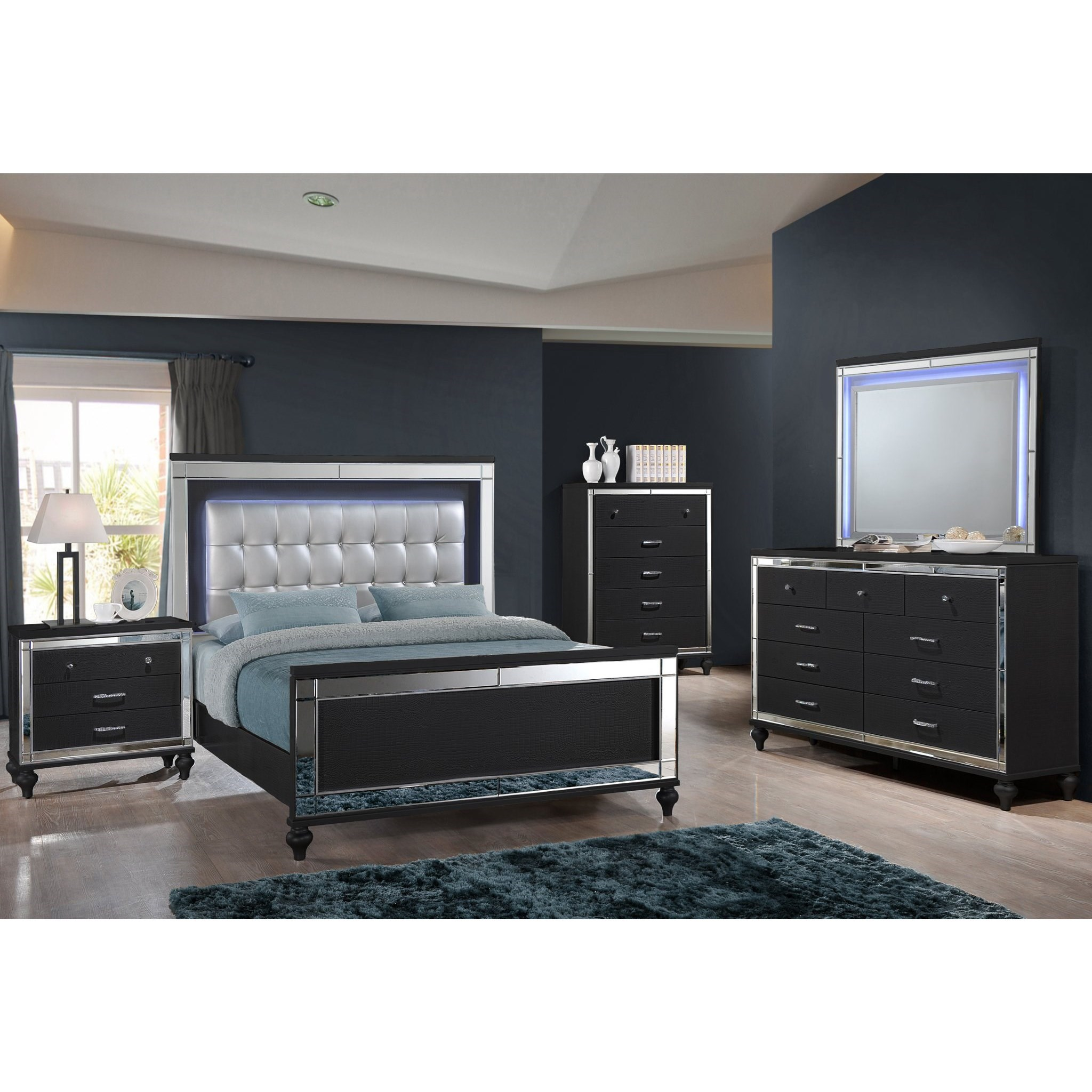 Valentino King Bedroom Group by New Classic at Beck's Furniture