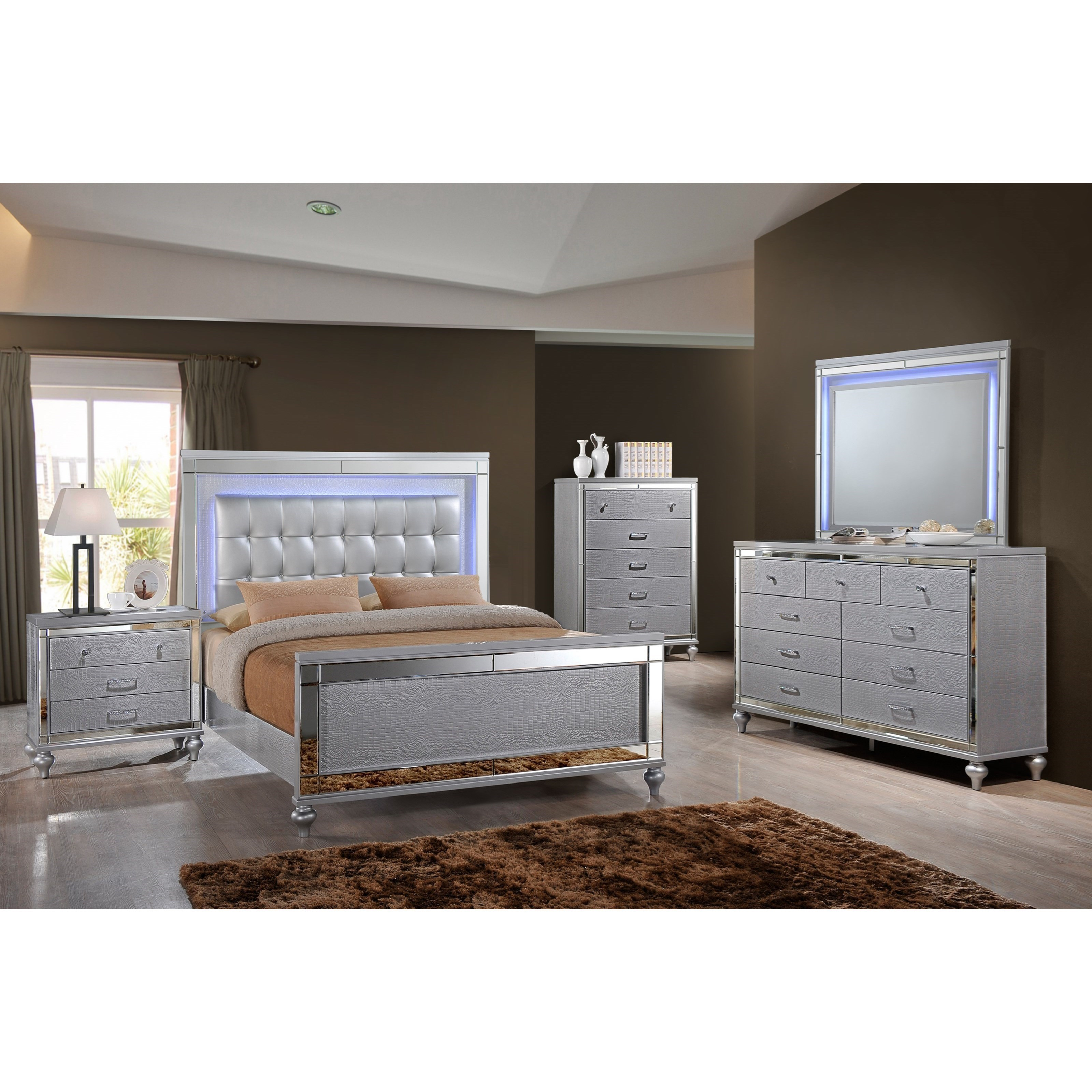 Valentino Queen Bedroom Group by New Classic at Beck's Furniture