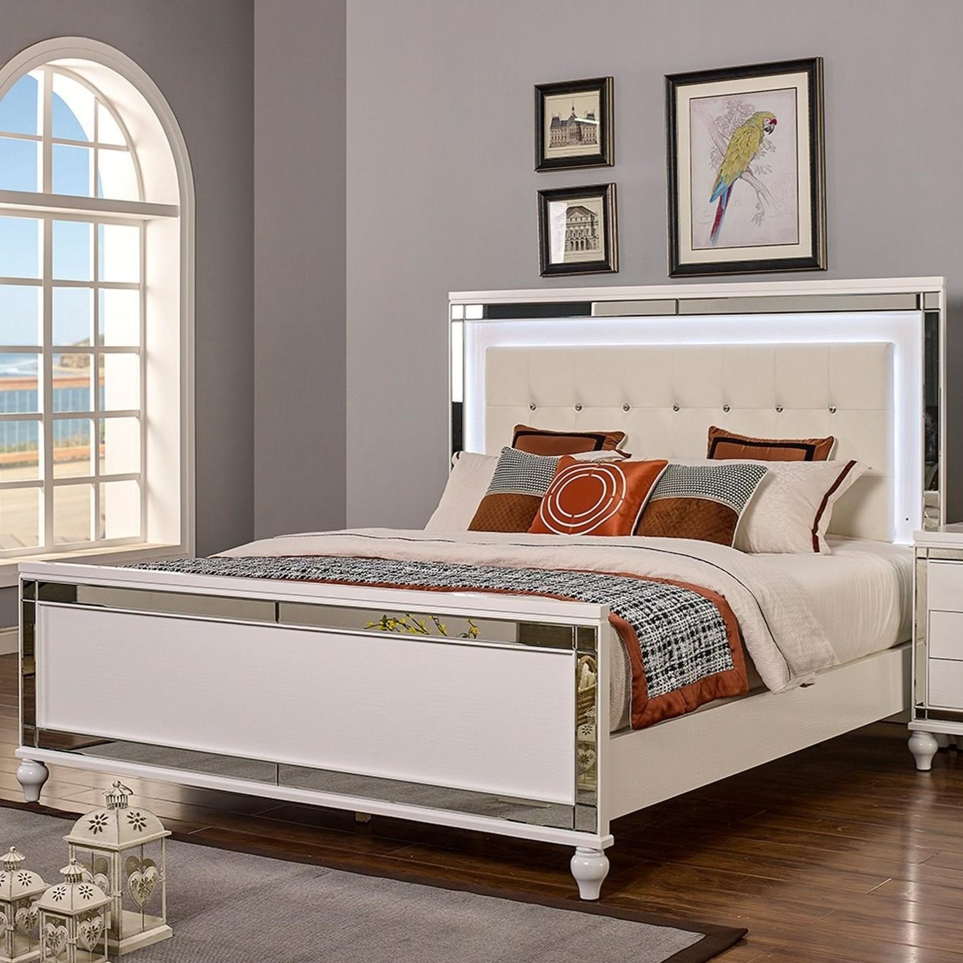 Valentino California King Bed by New Classic at Beck's Furniture