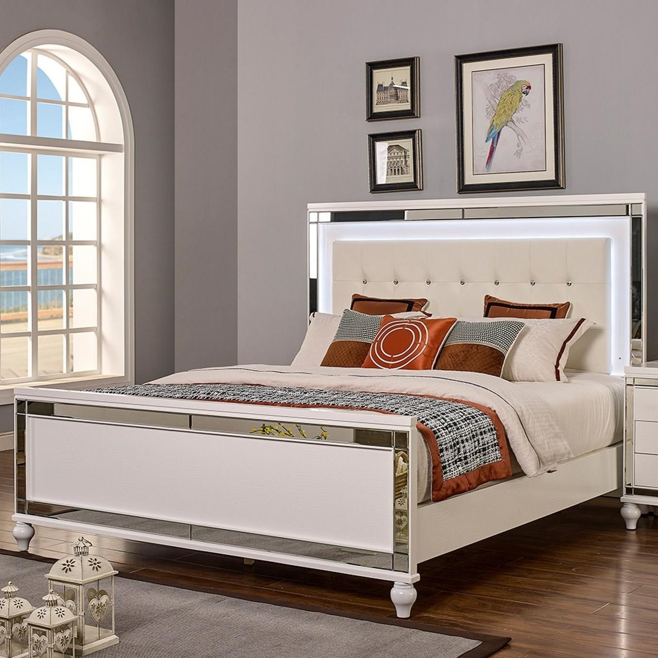 Valentino King Bed by New Classic at Beck's Furniture