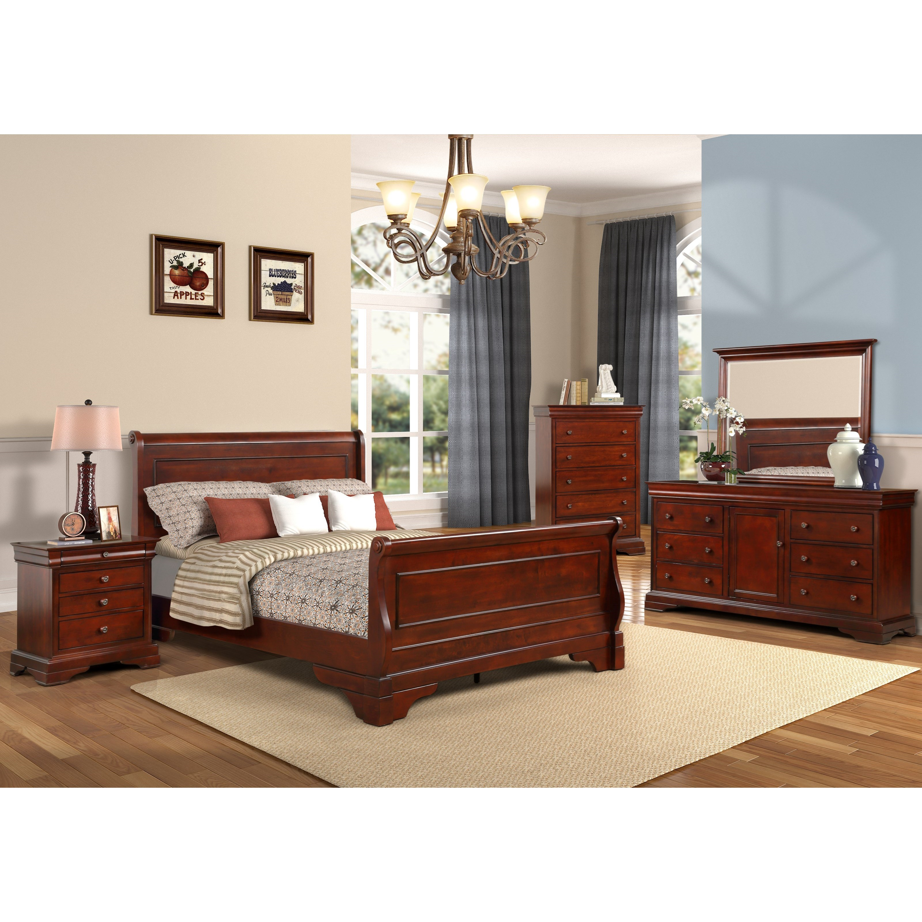 Versaille Full Bedroom Group by New Classic at H.L. Stephens