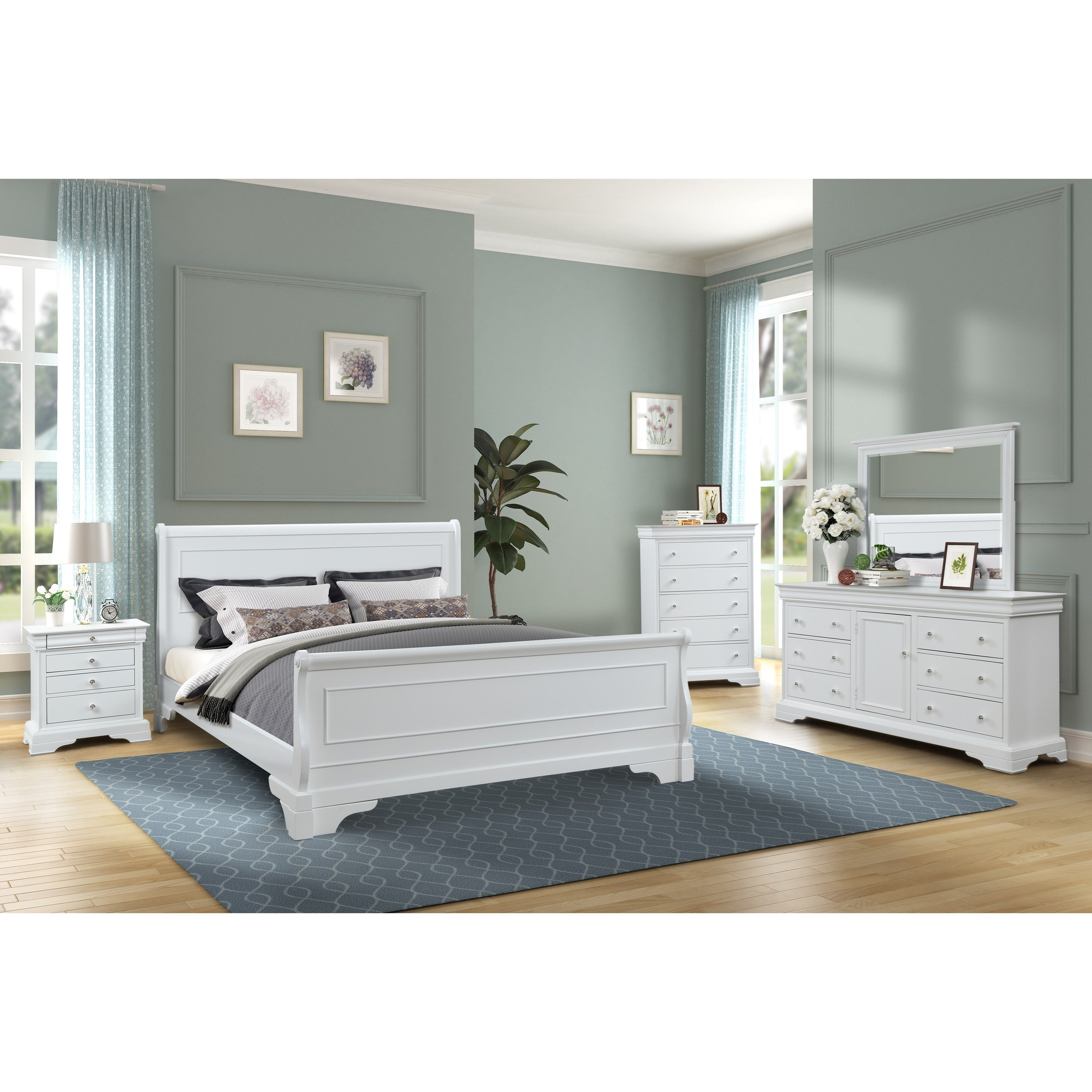 VERSAILLES California King Bedroom Group by New Classic at Rife's Home Furniture