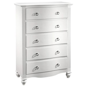 Five-Drawer Chest with Felt-Lined Top Drawer