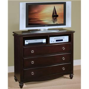 Three-Drawer Bedroom Media Chest