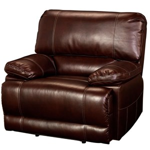 Casual Recliner with Accent Stitching and Pillow Arms