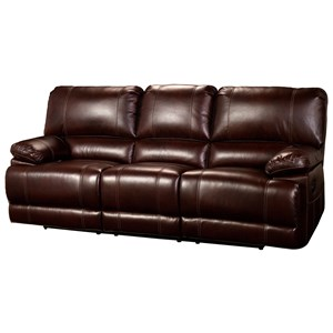 Casual Power Dual Recliner Sofa with Accent Stitching