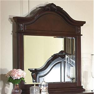 Mirror w/ Decorative Pediment