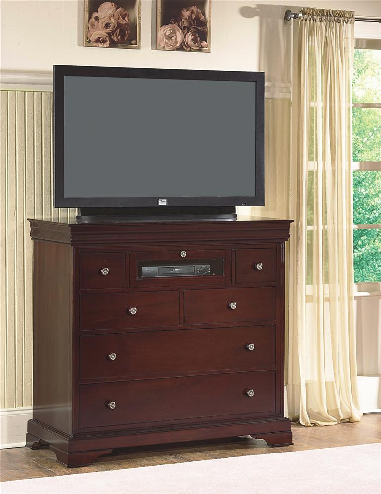 Versaille Media Chest by New Classic Furniture at Del Sol Furniture