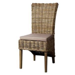 Chance Rattan Side Chair, Kubu Grey