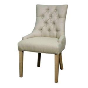 Nicole Fabric Dining Chair NWO Leg, Sand