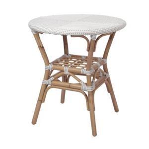 Orleans Paris Bistro Table, White/ Gray