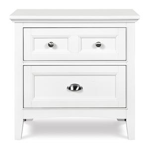 Two-Drawer Nightstand with Touch Lighting and Charging Station